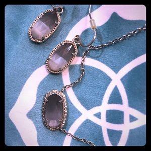Kendra Scott Lee Earrings and Elisa Lux necklace